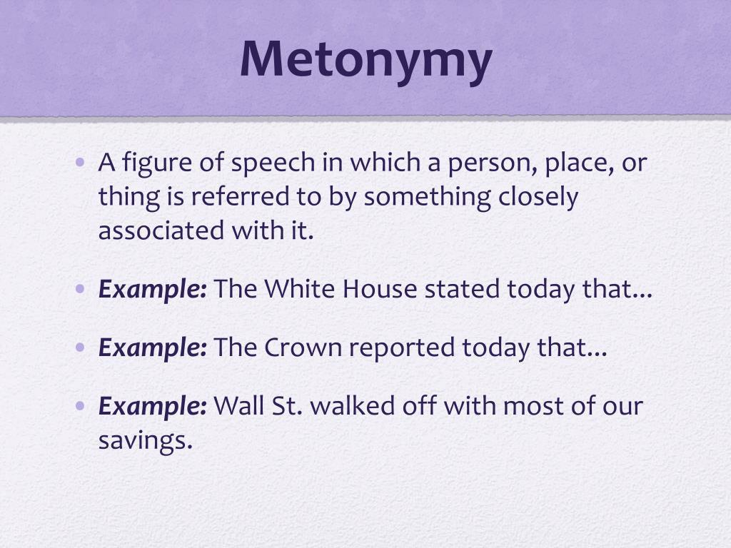The Internet as metonymy