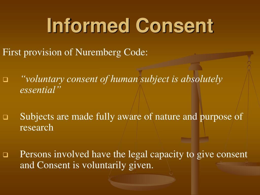 The Nuremberg Code