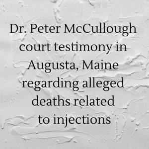 Court Testimony in Augusta, Maine